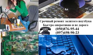 ремонт залитго ноутбука срочный
